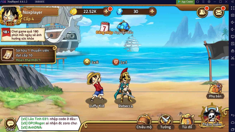 Hải Tặc Đại Chiến mobile Hướng dẫn chơi trên PC 3-5
